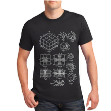 Novelty Summer fashion men's short sleeve Rubik's cube print T-shirt High Quality Tops male cool hipster Tees