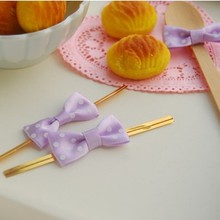 600pcs Pre-Tied Satin Ribbon Bow with Gold Twist Tie Purple Bow Free shipping