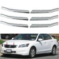 For 2008 2010 Honda Accord 4 Door Sedan ABS Triple Chrome Center Bumper Grill Cover Car