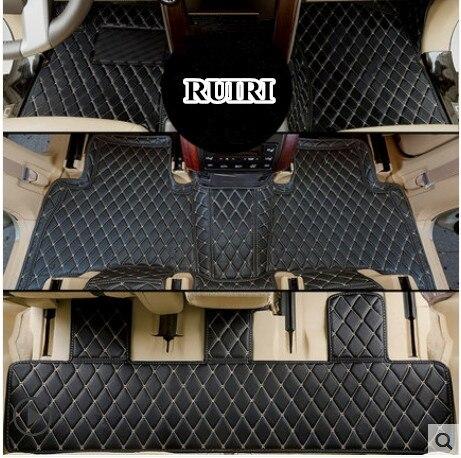 Qualité supérieure! Tapis de sol de voiture sur mesure pour Toyota Land Cruiser Prado 150 7 sièges 2019 tapis de voiture imperméables pour Prado 150 2018-2010
