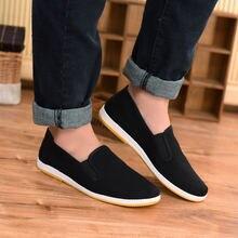 Черная хлопковая обувь винтажная китайская для кунг фу Брюса