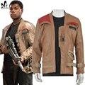 Star wars Финн куртка кожаная куртка Хэллоуин косплей взрослый Star Wars force пробуждает Финн косплей костюм Poe куртка настроены