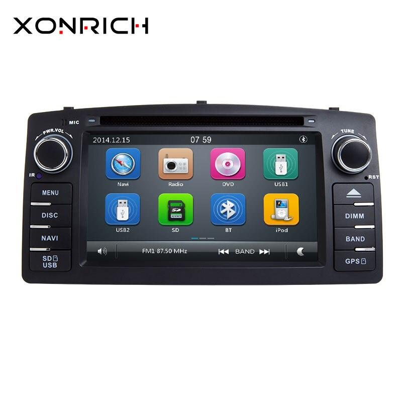 Xonrich 2 Din автомобильный DVD плеер для Toyota Corolla E120 BYD F3 2000 2005 2006GPS радио мультимедиа головное устройство стерео навигации аудио