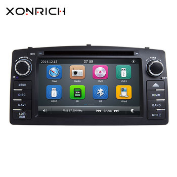 Xonrich 2 Din Auto Dvd-speler Voor Toyota Corolla E120 BYD F3 2000 2005 2006GPS Radio Multimedia Head Unit Stereo navigatie Audio