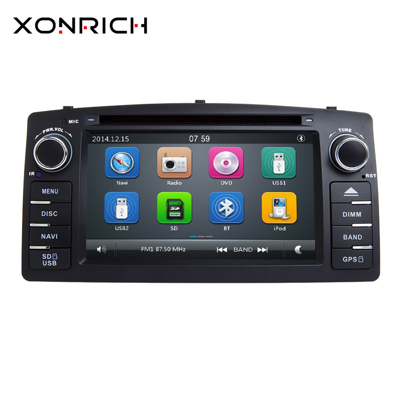 Xonrich 2 Din Car DVD Player For Toyota Corolla E120 BYD F3 2000 2005 2006GPS Radio Multimedia Head Unit Stereo Navigation Audio