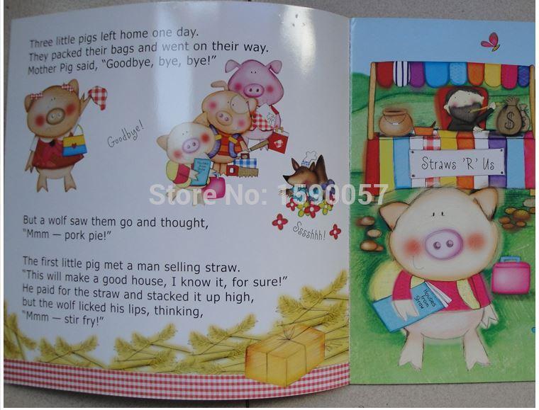 Drei Little Pig märchen kindergarten Englisch der Aufklärung klassische kinder bücher im ausland ursprüngliche Englisch geschichte bücher