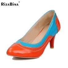 Бесплатная доставка ботинки высокой пятки женщин сексуальное платье модной обуви насосы P11010 EUR размер 32-43