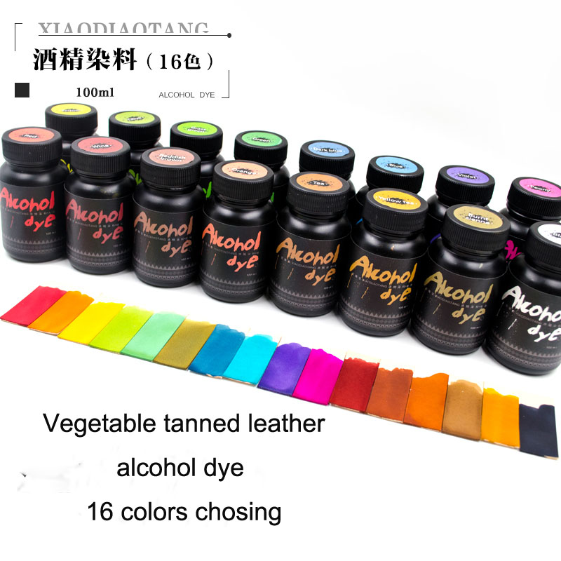 16 colors chosing Leather alcohol dye vegetable tanned leather manual diy dye 100ml three 100ml