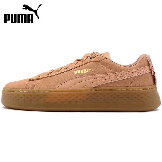 28221f68291 Original New Arrival 2018 PUMA Smash Platform Frill Women s Skateboarding  Shoes Sneakers