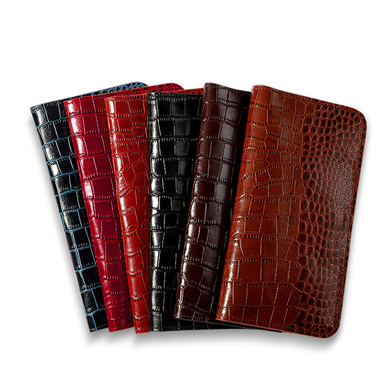 Genuine Leather Flip Phone Case For Samsung Galaxy S6 S7 S8 S9 Plus case Crocodile Texture Wallet For Note 8 9 A5 A8 J5 J7 Bags