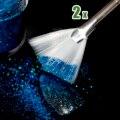 2pcs Nail Design Brush Fan Shape Glitter Gradient Nails Brush Tool Long Size B04