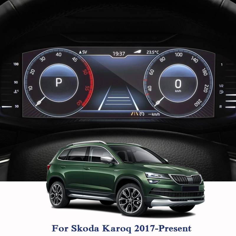 For Skoda Karoq 2017-Present GPS Navigation Screen Glass Protective Film Dashboard Display Protective Film Internal Accessories