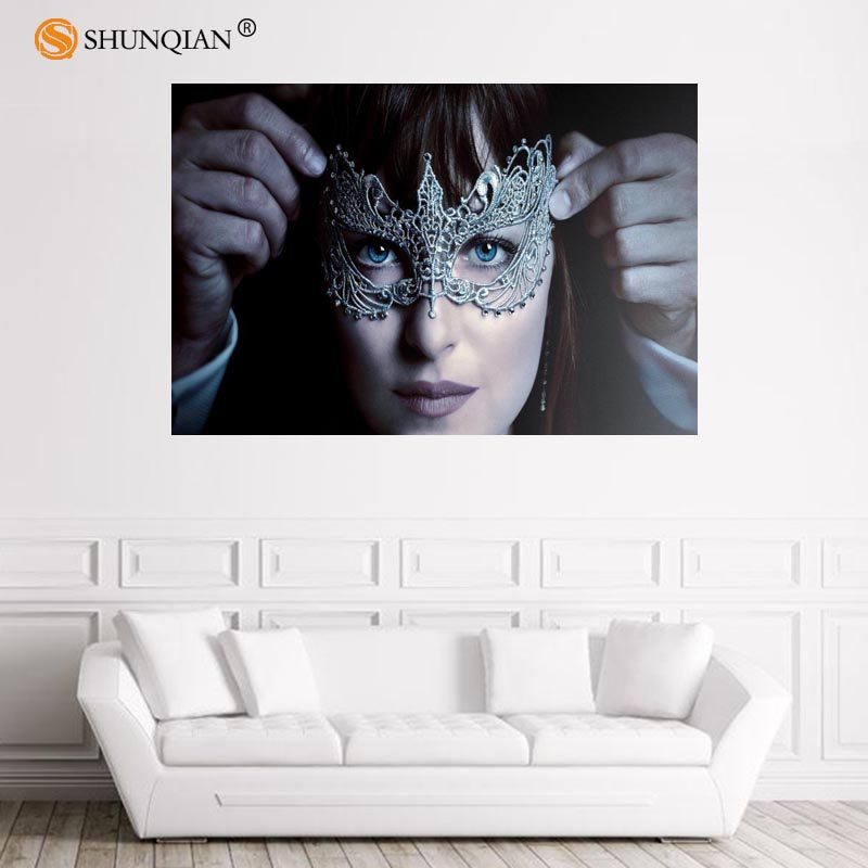 Nice Fifty Shades of Grey Poster Custom Satin Poster Print Cloth Fabric Wall Poster Print Silk Fabric Print Poster