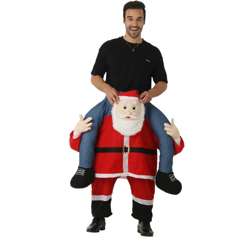 Funny Costume Santa Claus Carry Me Ride On Me Cosplay Costume Animal Pants Carry Back Christmas Halloween Costume for Adult