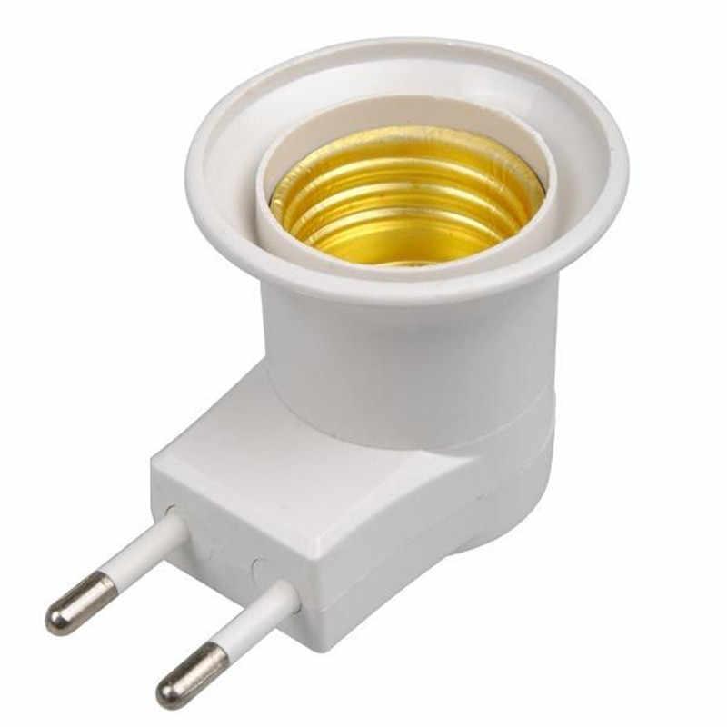 1pc E27 Lamp Holder converter EU plug E27 base socket night light power Home Lighting