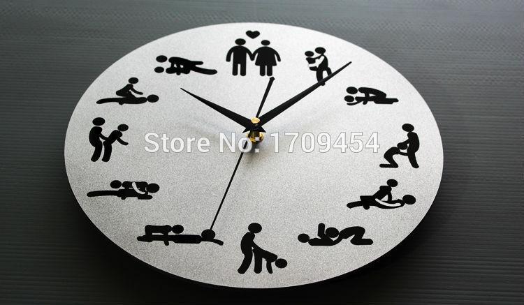 Mirror Wall Clocks Sexual Liberation Design 12 Fancy