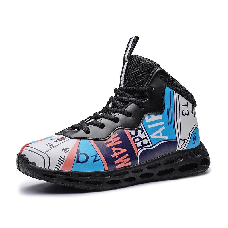 Garçons filles Basket-ball chaussures 2019 nouveaux enfants Sport baskets chaussures de plein air bleu noir enfants panier athlétique baskets
