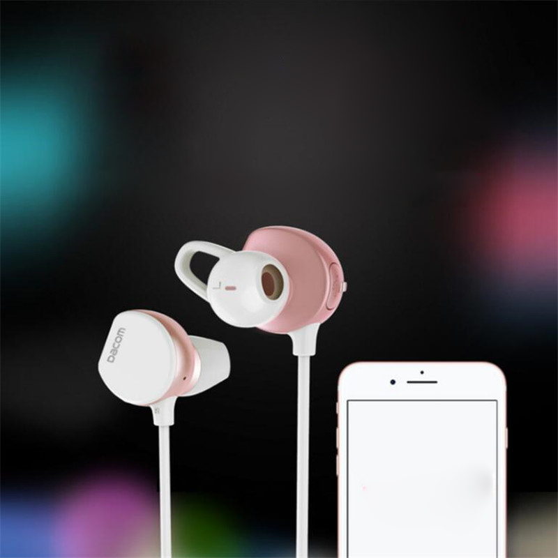 ФОТО DACOM Bluetooth 4.1 Headset Earbuds Stereo Sports Bluetooth Headset Auriculares Running Wireless Colorful Earphones For Phone