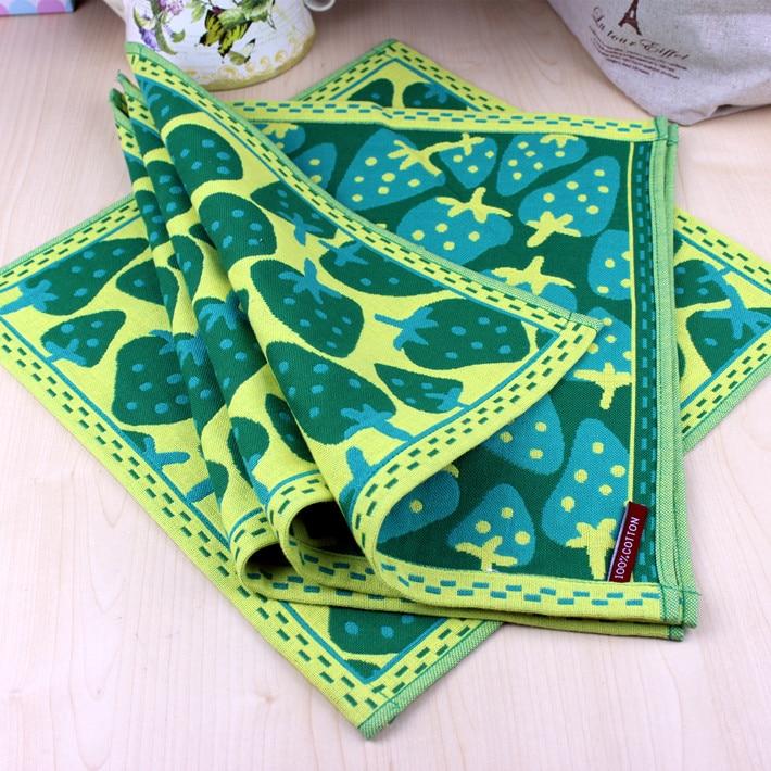 Free shipping Strawberry towel squareinto children gauze cotton towel three layers of gauze towel 34*34cm