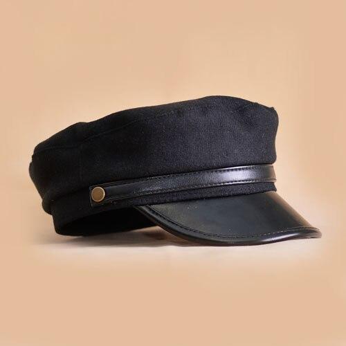 483c86cd4e2 Beret For Women Felt Hats Fall Winter Black Literary British Military Hats  Lady Navy Flat Cap Chapeu Gorra Capitan Barco-in Berets from Women's ...