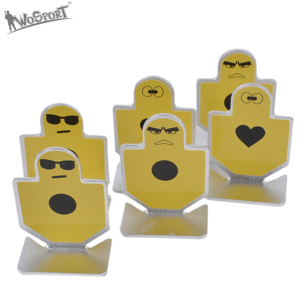 Element Metal Warriors of Fortitude Pistol Shooting Small Target Set of 6pcs For Airsoft Practice Target Mount Accessory