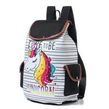 Женский холщовый школьный рюкзак с мультипликационным рисунком, рюкзак на шнурке, Женский Большой Вместительный школьный рюкзак для девочек-подростков, Mochila Hombre