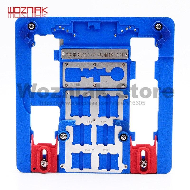 Wozniak A21 + A22 A23 Haute température résistance Luminaire Carte Mère CPU de maintenance Fixe pour iphone 5S 6 6 p 6 s 6SP 7 7 p 8 8 p