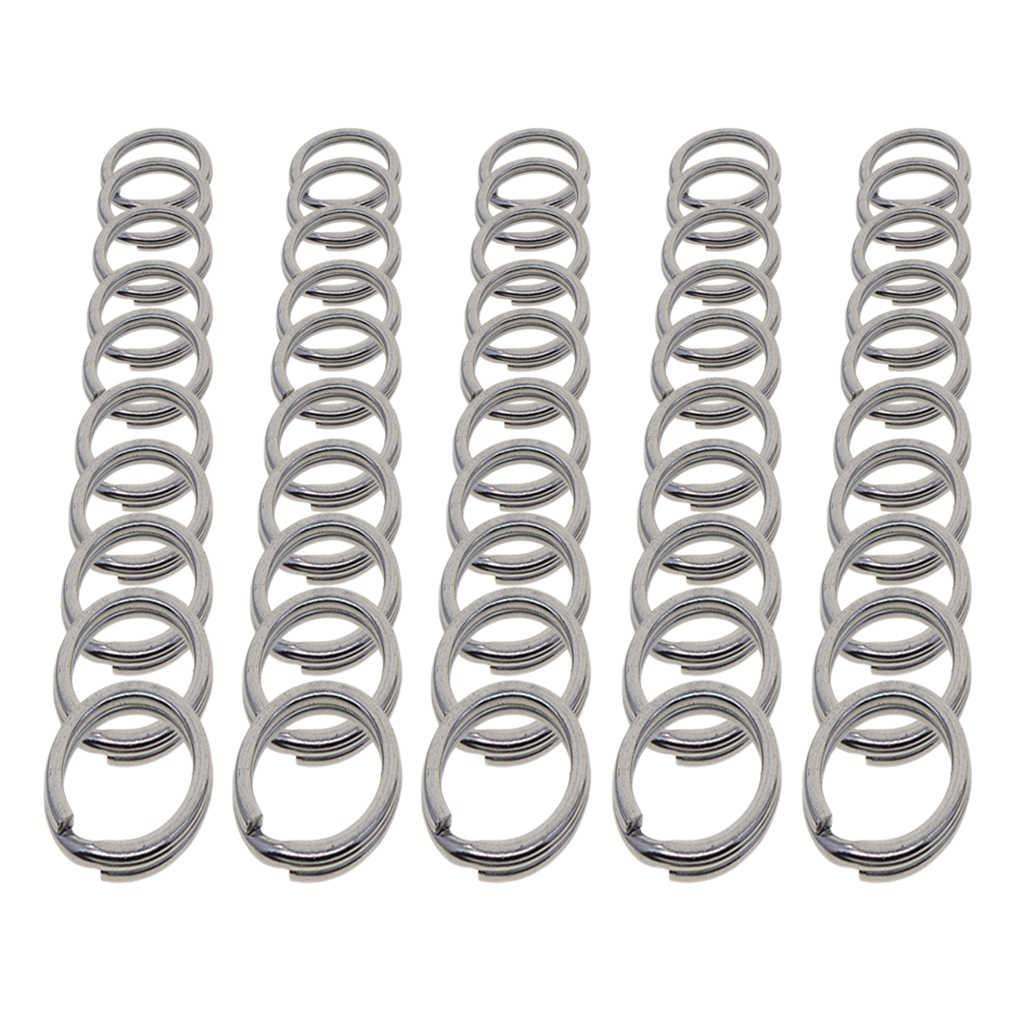 20pcs 28MM Key Chain Rings Metal Split Rings for Car Home Keys Organization
