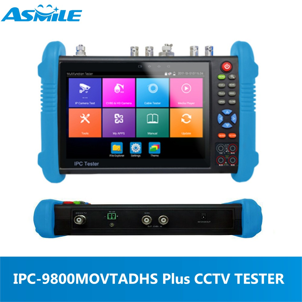 New IP Camera Tester with 7 Inch Touch Screen 1280X 800 Resolution CCTV Tester for IP9800ADHS