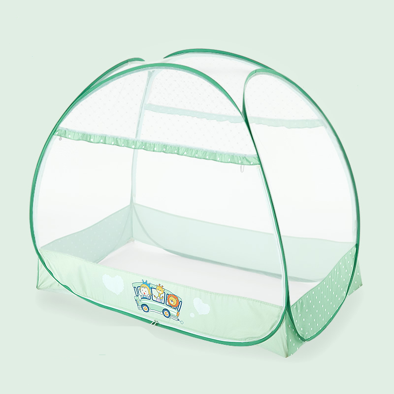 Double-door Type Crib Yurt Netting Larger Space Baby Bed Canopy Travel Kids Camping Mesh Tent Folding Easily Baby Mosquito Net baby bed canopy without bottom portable folding baby bed mosquito net children mosquito tent 65 115cm kids outdoor camping tent