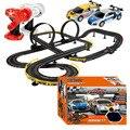 Vendedor caliente fresco 2 unid RC Cars con Slot Track ensamble Toy eléctrico Flash de carreras de coches para niños regalos