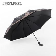 Hot Sale Wind Resistant Folding Umbrella Rain Women Auto Luxury Big Windproof Umbrellas For Men Black Coating 8K Parasol