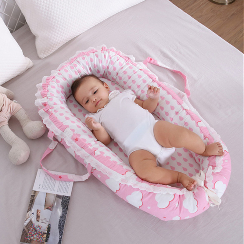 Baby crib Print Cotton Bionic Bed Washable Multi Functional Travel Crib bed with bumper Newborn Portable Baby Bed Baby crib Print Cotton Bionic Bed Washable Multi Functional Travel Crib bed with bumper Newborn Portable Baby Bed