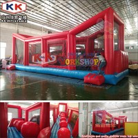 Giant Wipeout Obstacle Ball, Crazy Inflatable Jumping Big Ball Wipeout Course Game