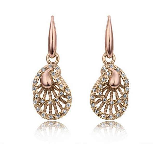 Anhänger Halskette Set Gold Gefüllt Aussage Halskette Ohrring Frauen Hochzeit Zubehör Nigerian afrikanischen perlen schmuck sets