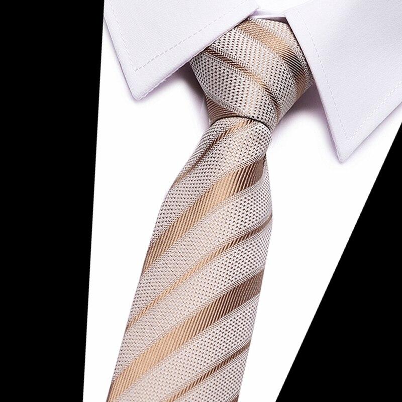 Gold striped silk men neckties Plaid 8cm width Neck Ties for Men Wedding Tie Work office Necktie Mariage Gravata Cravat in Men 39 s Ties amp Handkerchiefs from Apparel Accessories