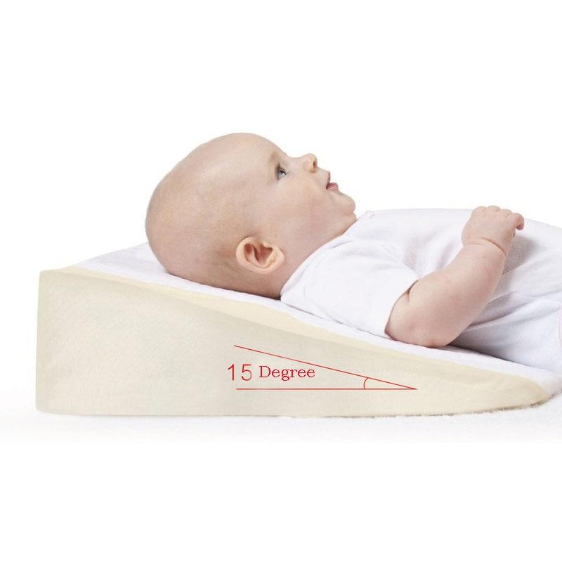 ФОТО Babymoov Anti Baby Spit Milk 15 Degree Crib Cot Wedge Baby Sleep Positioning Pillow Nursing Pillow Pad