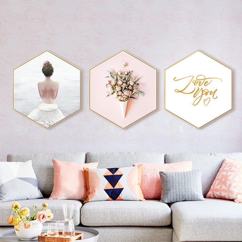 Cheap Decorative Frames: Hexagonal Decorative Picture Frames For Painting Dining