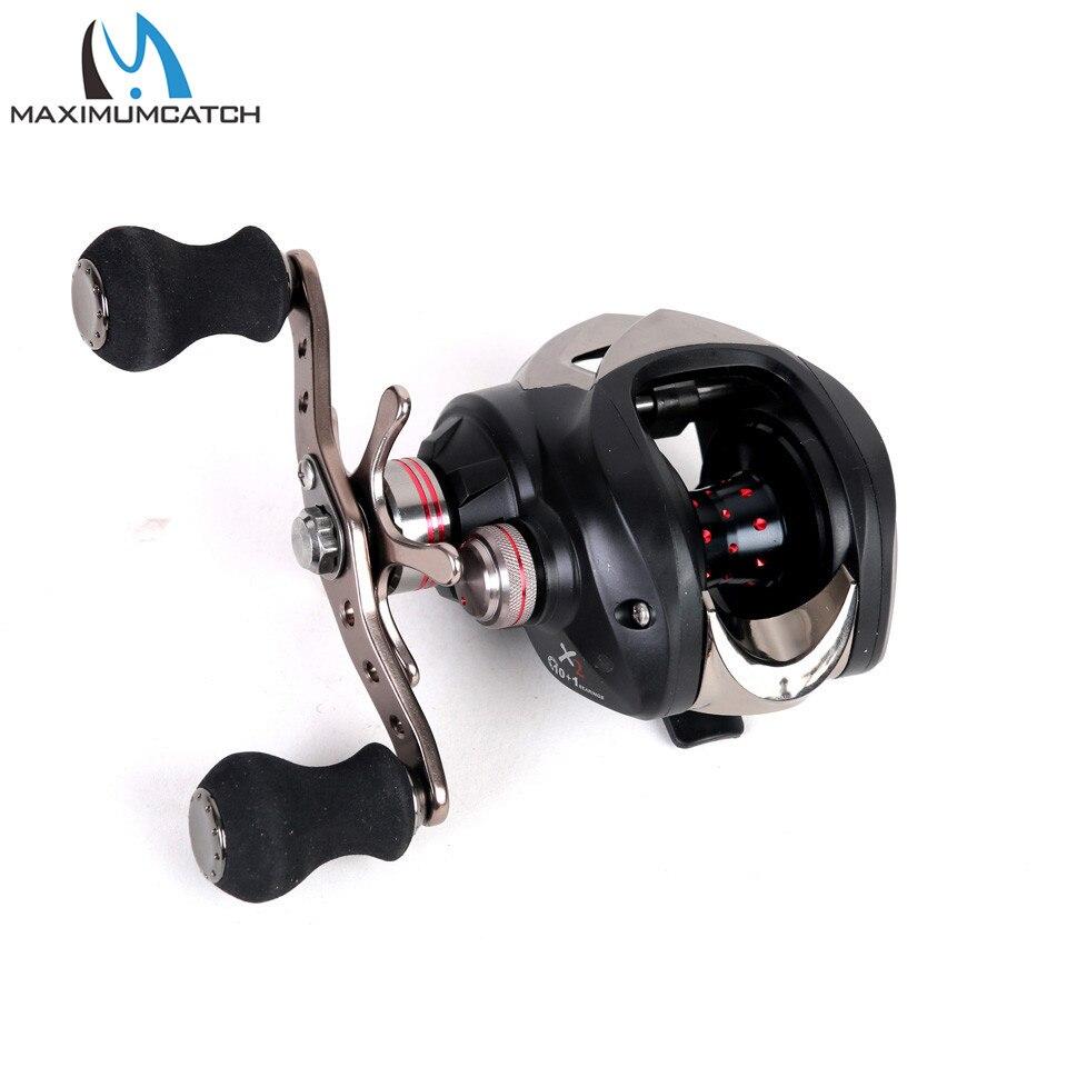 maximumcatch acuflex carretel de arremesso centrifugo sistema freio carretel 8 kg max arraste 10 1 bbs