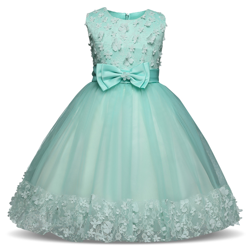 Flower Girls Dress Mint For Wedding Girl Baby Tulle Costume For Kids Prom Clothes Children Clothing Little Girl Party Frocks a15 fancy lace girls wedding gown summer teenage girls party costume for kids clothes children clothing girl prom ceremony dress