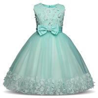 Flower Girls Dress Mint For Wedding Girl Baby Tulle Costume For Kids Prom Clothes Children Clothing Little Girl Party Frocks