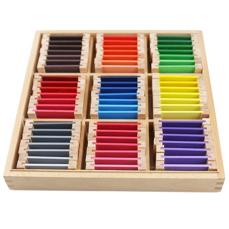 Montessori jouets éducatifs en bois Montessori matériaux sensoriels 27 couleurs reconnaissance jouets en bois pour enfants UB0666H