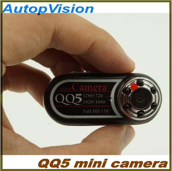 2PCS Portable mini camera QQ5 Full HD 1080P Mini Camera 170 degrees wide angle IR Night Vision and motion detection Function