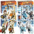 4 ipos bela león/oso de hielo/cocodrilo/tigre dientes de sable, paquete de bloques huecos de la tribu modelo juguetes compatibles con lego