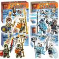 4ypes Bela Lion/Ice Bear/Crocodile/Saber-Tooth Tiger Tribe Pack Building Blocks Sets Model Toys Compatible with Lego