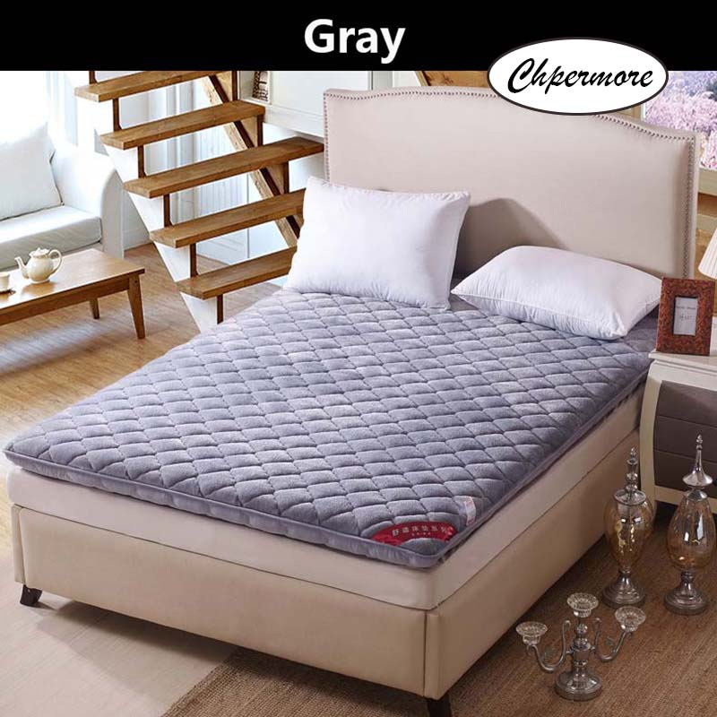 Chpermore Thickening Flannel Mattress Student Dormitory Tatami Single Double Foldable Mattresses Bedspreads King Queen Twin Size