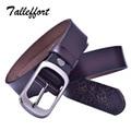 Tallefffort классический корова натуральная кожа женщина пояса дизайнер бренда женские ремни для джинсов