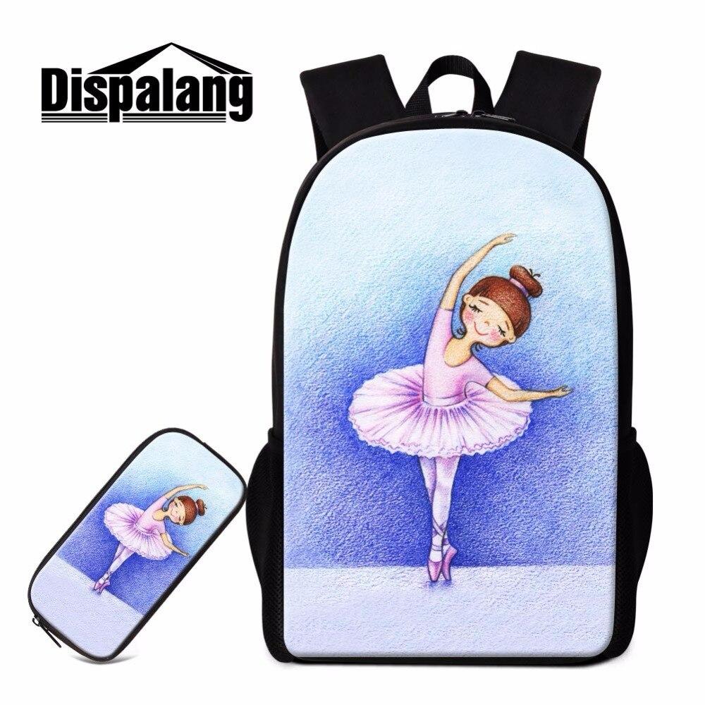 цены на Dispalang Designer Ballet Girl Backpack 2017 School Bag Patterns Art Bookbag for Teens High Class Student Rucksack Women Bagpack в интернет-магазинах