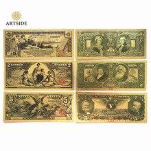 Все типы США долларовая Золотая банкнота бумажная монета медаль 24k Соединенные Штаты Америки