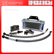 Universal Motorcycle Oil Cooler Radiator & CNC Plate cooling 125CC 140cc engine dirt bike radiator oil cooler